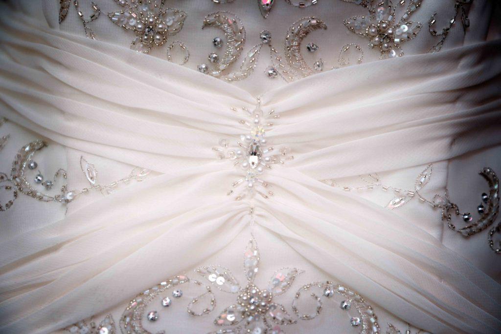 photograph of wedding dress at Greetham wedding photography