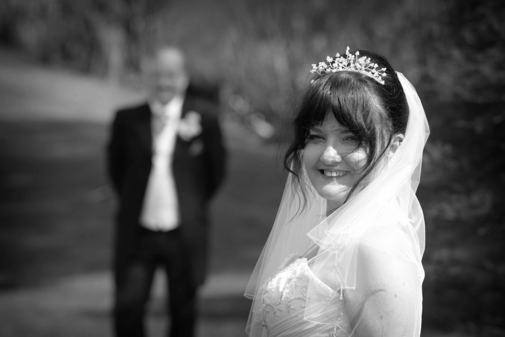 Bride and groom at Greetham Valley wedding photography