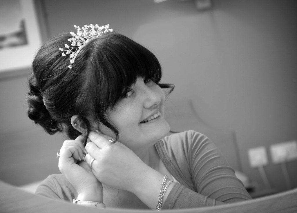 Bridal preparation at Greetham wedding photograph